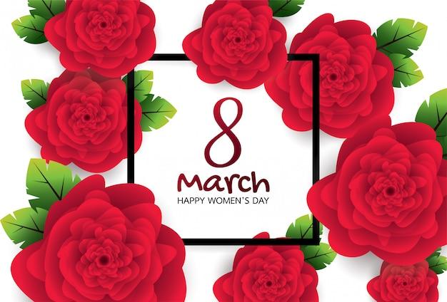 Grußkarte mit roter rose.