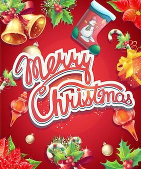 Grußkarte mit weihnachten