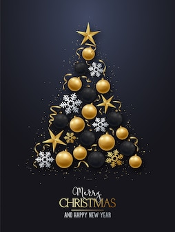 Grußkarte mit weihnachtsbaum.