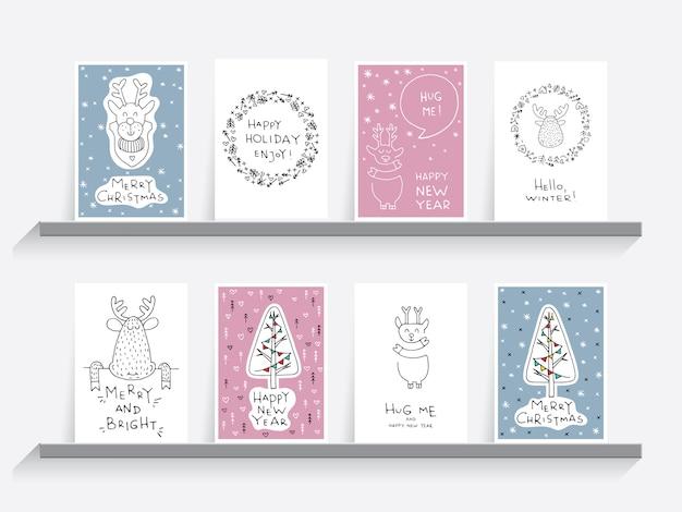 Grußkarte weihnachtsset
