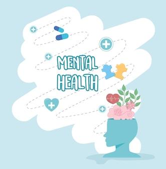 Grußkarte zum bewusstsein für psychische gesundheit