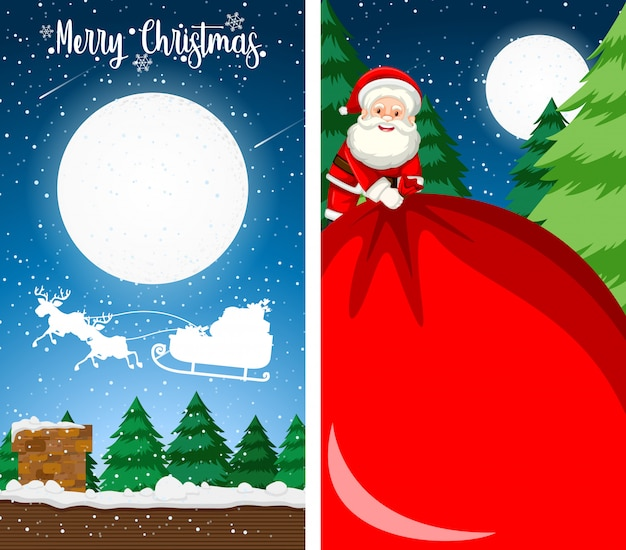 Grußkarten-hintergrundvertikale der frohen weihnachten