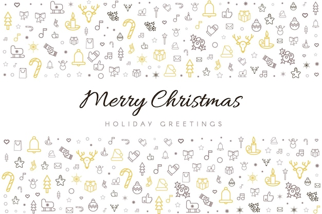 Grußkarten-vektorschablone der frohen weihnachten und des guten rutsch ins neue jahr