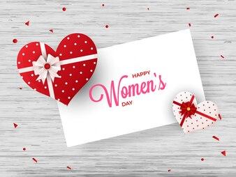 Grußkartendesign der glücklichen Frauen Tagesmit Illustration von hören
