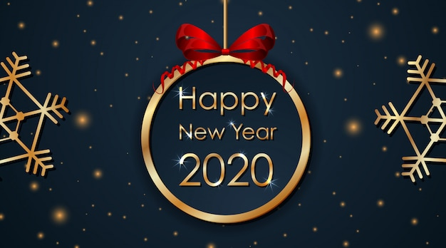 Grußkartenentwurf für neues jahr 2020