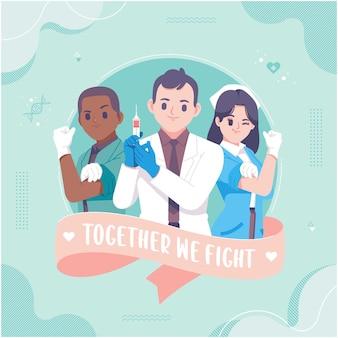 Grußkartenvorlage zur anerkennung von gesundheitsarbeitern