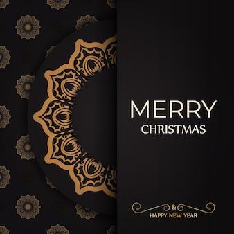 Grußplakat frohes neues jahr und frohe weihnachten weiß mit winterverzierung.