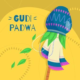Gudi padwa traditionelles banner