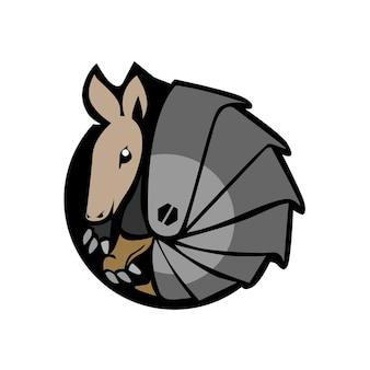 Gürteltier maskottchen logo