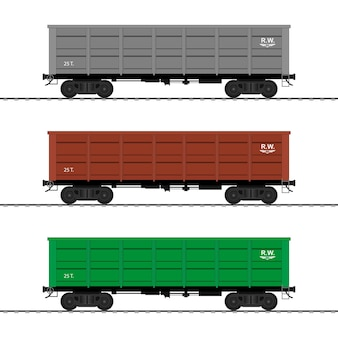 Güterzugwagen. eisenbahnwagen.