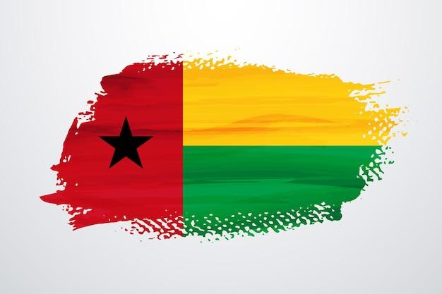 Guinea bissau pinsel farbe flagge