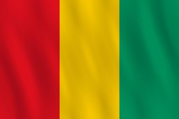 Guinea-flagge mit wehender wirkung, amtlicher anteil.