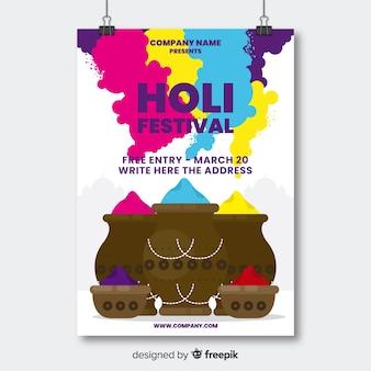 Gulal pot holi party poster