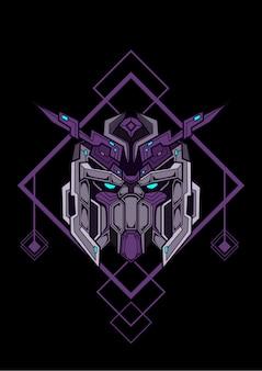 Gundam samurai linie kunstwerk sammlung