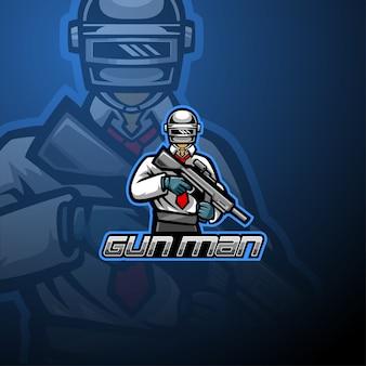 Gunner esport maskottchen logo design