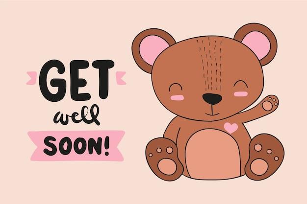 Gute besserung zitat und teddybär