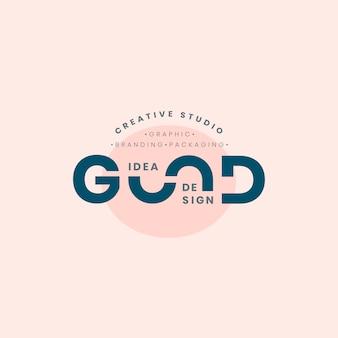 Gute idee logo abzeichen design