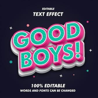 Gute jungen text effekte