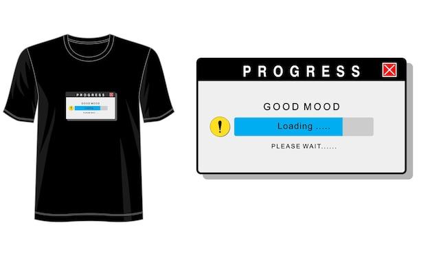 Gute laune design für print t-shirt und mehr