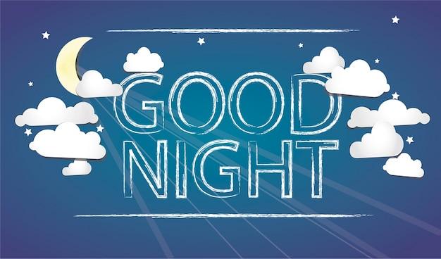 Gute nacht blau bakcground