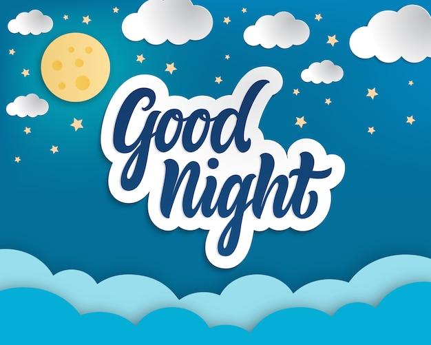 Gute nacht papper art.