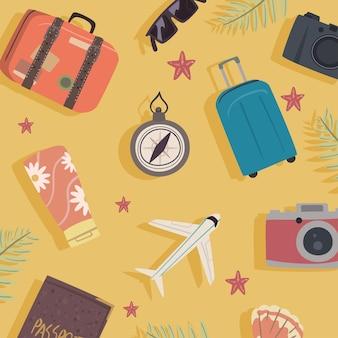 Gute reisemuster setzen icons