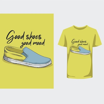Gute schuhe gute laune typografie design t-shirt