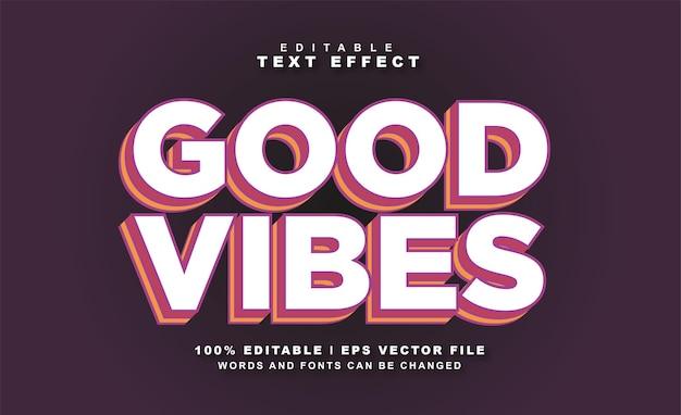 Gute stimmung texteffekt kostenloser eps-vektor