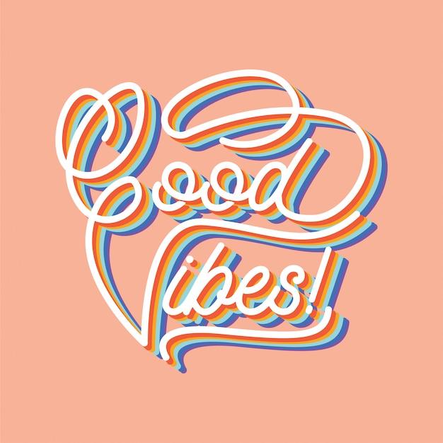 Gute stimmung typografie