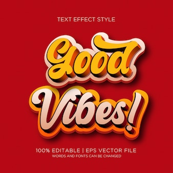 Gute vibes-text-effekte