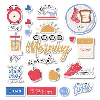 Guten morgen aufkleber