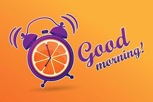 Guten morgen energiereicher vitaminmorgen