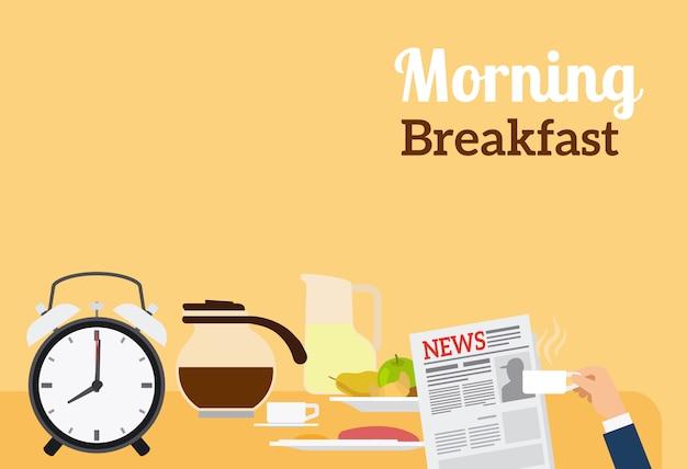 Guten morgen frühstück banner