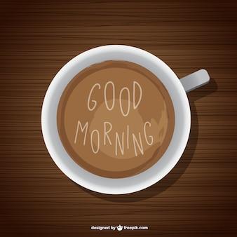 Guten morgen hintergrund mit kaffee