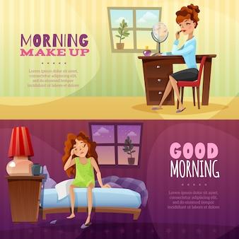 Guten morgen horizontale banner