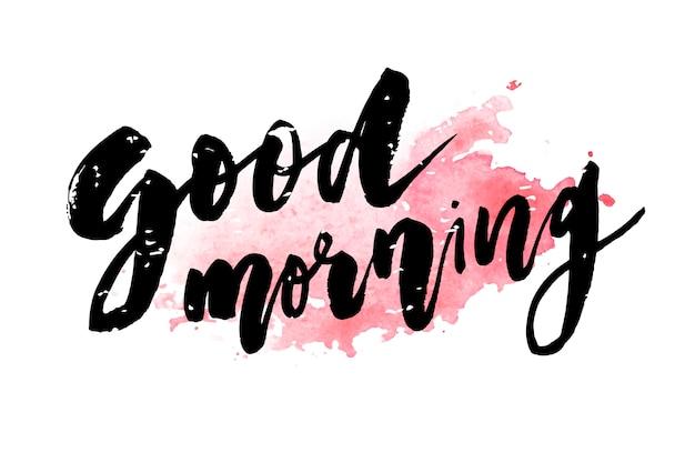 Guten morgen schriftzug kalligraphie