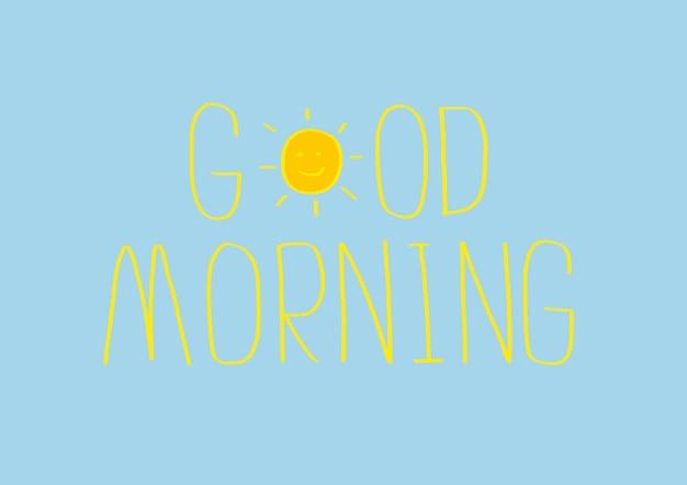 Guten morgen vektor illustrationen