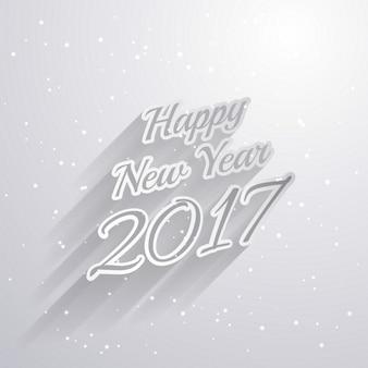 Guten rutsch ins neue jahr 2017 textstil auf weißem hintergrund