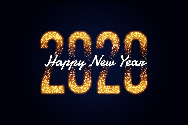 Guten rutsch ins neue jahr 2020 golden funkelt grußkartendesign