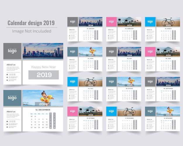 Guten rutsch ins neue jahr-tischkalender 2019