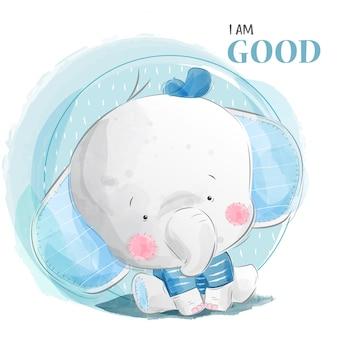 Guter babyelefant