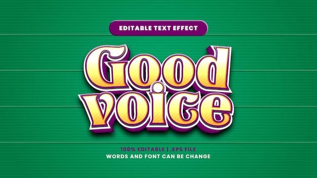 Guter sprachbearbeitbarer texteffekt im modernen 3d-stil