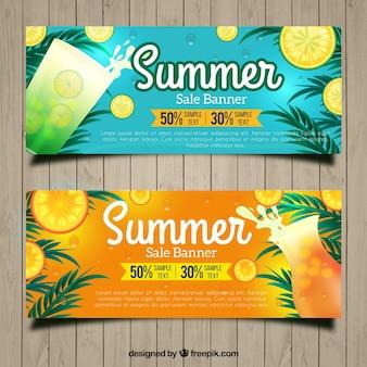 Gutscheine für den sommer mit erfrischenden getränken