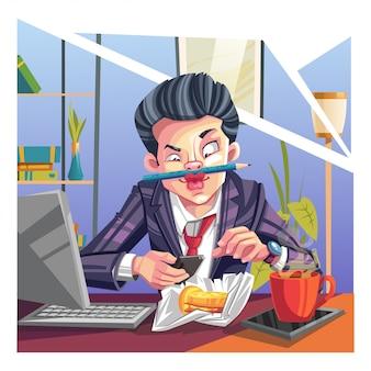 Guy chilling im büro