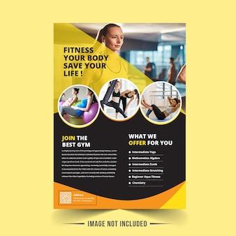 Gym cover vorlage design