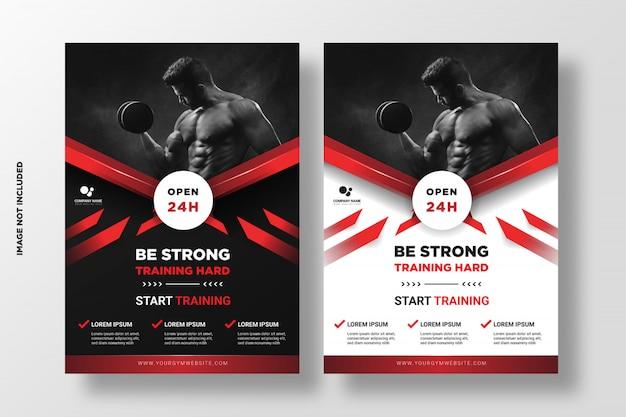 Gym fitness promotion flyer vorlage