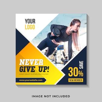 Gym & fitness social media post instagram post vorlage