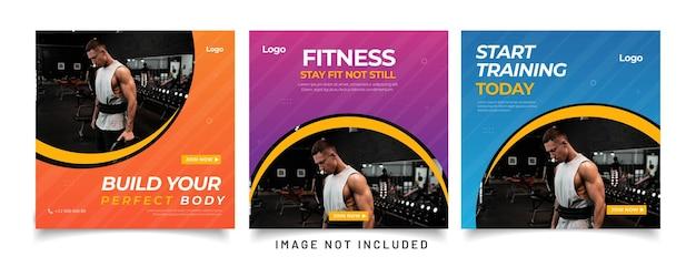 Gym fitness social media post vorlage