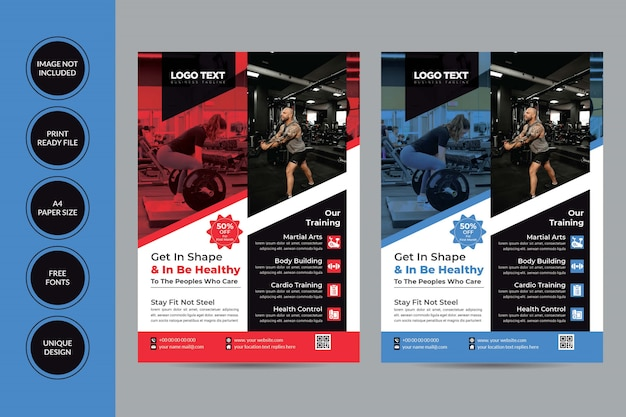 Gym flyer anpassbare design-vorlage