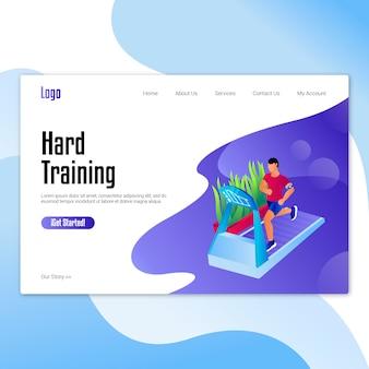 Gym landing-page-konzept